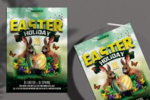 Easter Celebration Free PSD Flyer Template