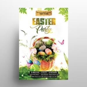Easter Egg Garden Party PSD Free Flyer Template