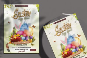 Easter Egg Hunt PSD Free Flyer Template