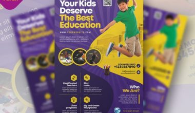 Education School PSD Free Flyer Template