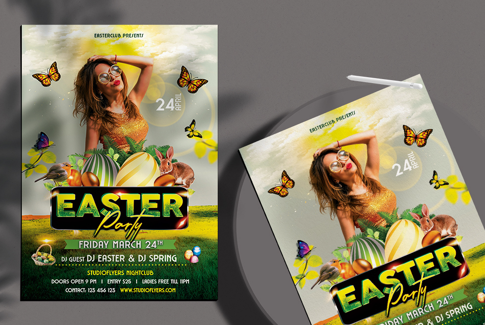 Egg Hunt - Easter Party Free PSD Flyer