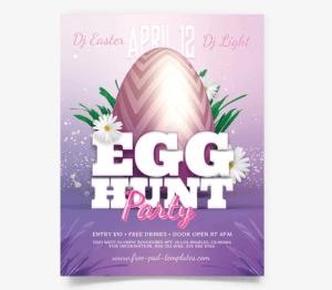 Egg Hunt PSD Free Flyer Template