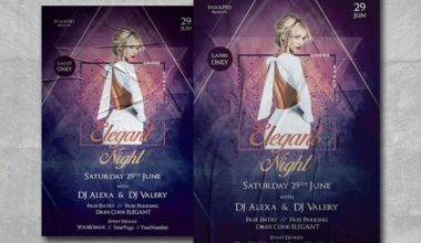 Elegant Ladies Night Free PSD Flyer Template