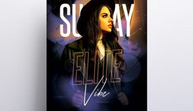 Elite - Free Party PSD Flyer Template