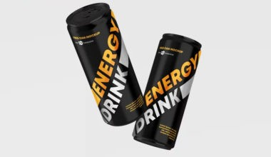 Energy Drink Can Free Mockups
