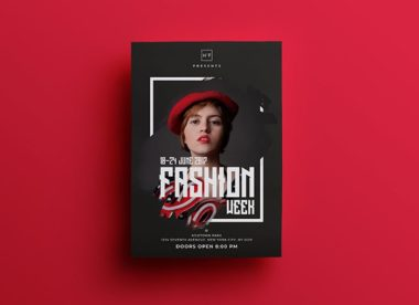 Fashion Week Event Free PSD Flyer Template vol2