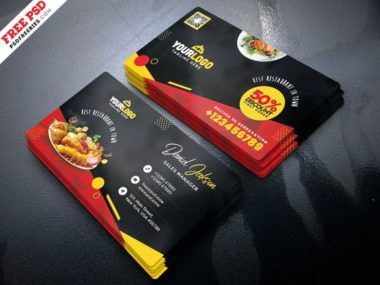Fast Food Restaurant Free PSD Business Card