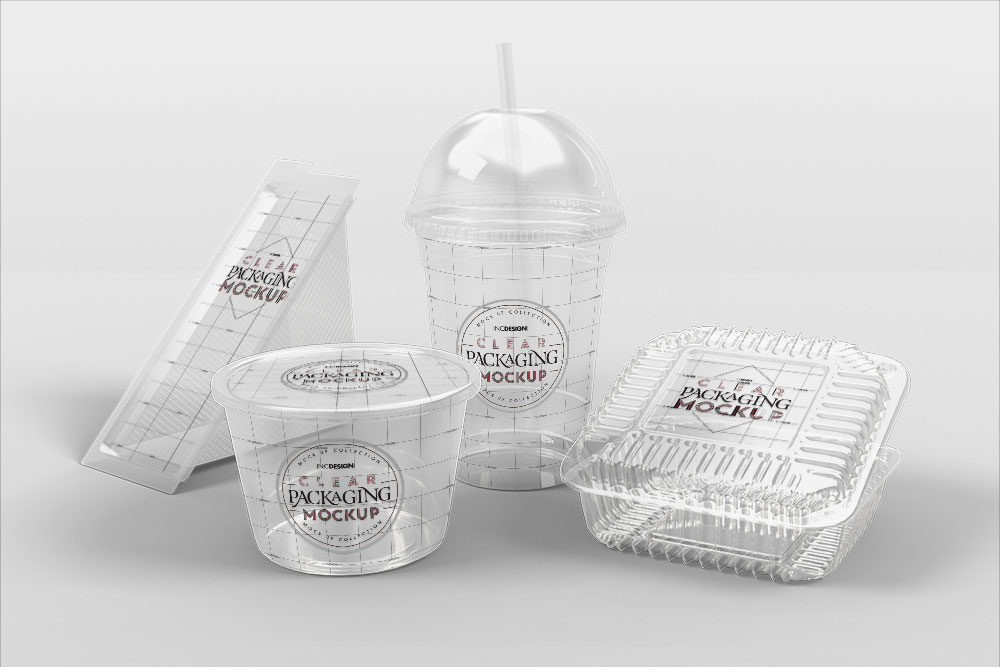 Fast Food Transparent Packaging Free Mockup