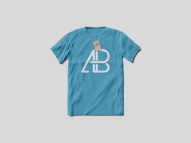 Flat T-Shirt for Men Free Mockup