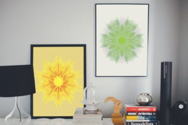 Framed Pictures on Sideboard Free Mockups