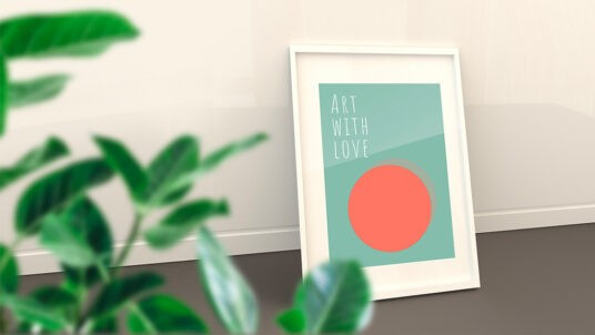 Framed Poster Mockup Free Collection