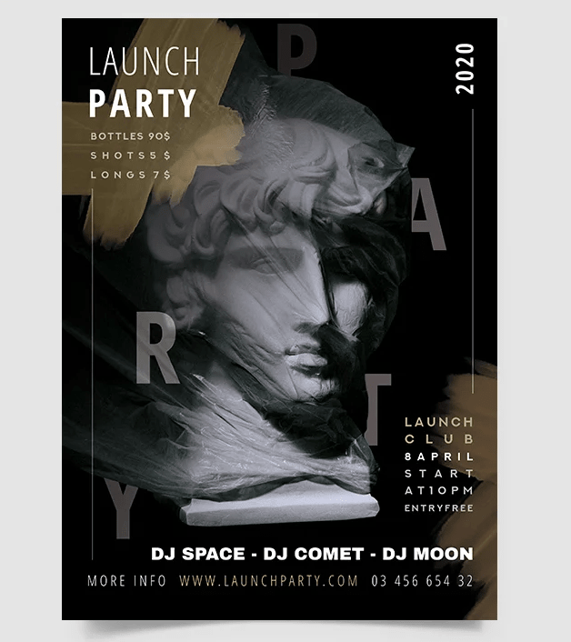 Free Club Party PSD Flyer Template v2
