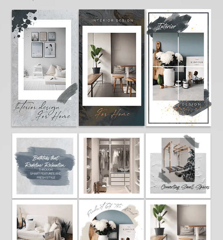 Free Interior Banners for Instagram Post & Stories in PSD