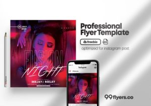 Fusion Club Party Free PSD Flyer Template