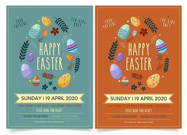 Happy Easter Day Free PSD Flyer Template