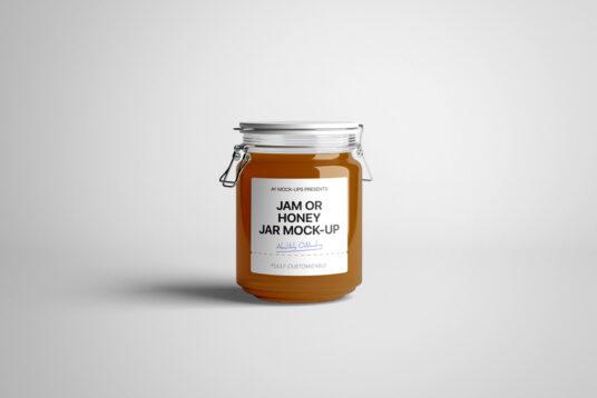 Honey Jar Packaging Free Mockup