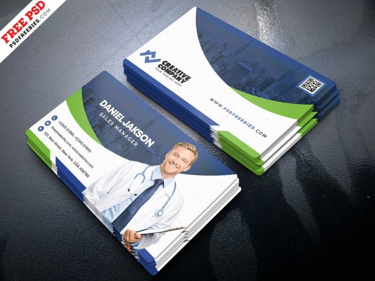Hospital Business Card PSD Template
