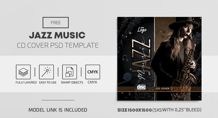 Jazz Soul Free PSD CD Cover Template