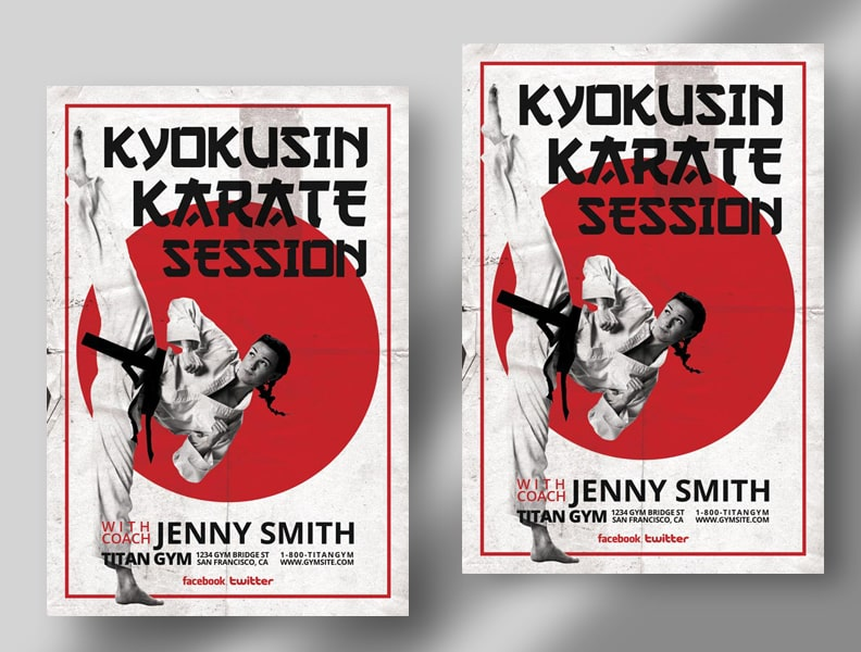 Karate Training Ad Free Flyer Template