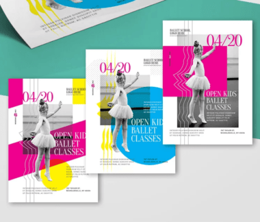 Kid's Ballet Dance PSD Free Flyer Template