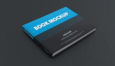 Landscape Hardcover Book Free Mockup