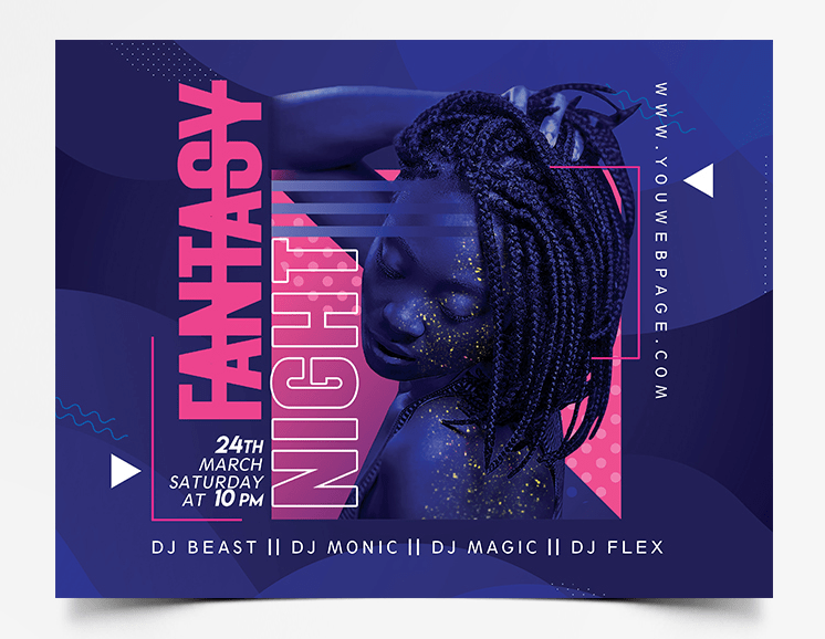 Late Night Party Free PSD Flyer Template