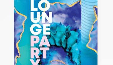 Lounge Bar Party PSD Free Flyer Template