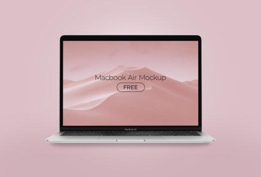 MacBook Air 2020 Free Mockup