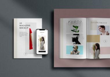 Magazines and iPhone 11 Freebie Mockup