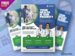 Medical Care & Hospital Ad – Free PSD Flyer Template