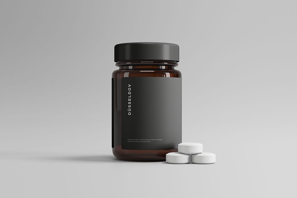 Medicine Pills Bottle Freebie Mockup