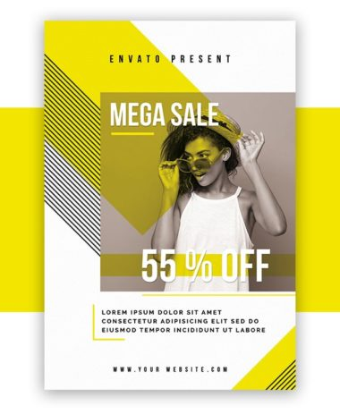 Mega Sale - Free Fashion PSD Flyer Template