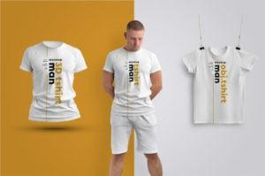 Men's T-Shirts Free PSD Mockup