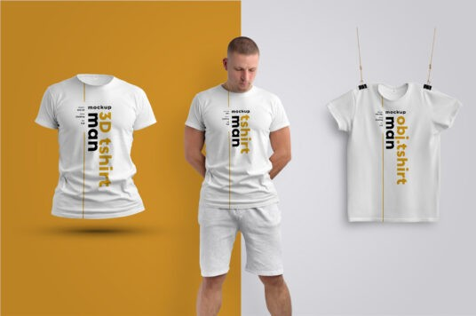 Men's T-Shirts Free PSD Mockup