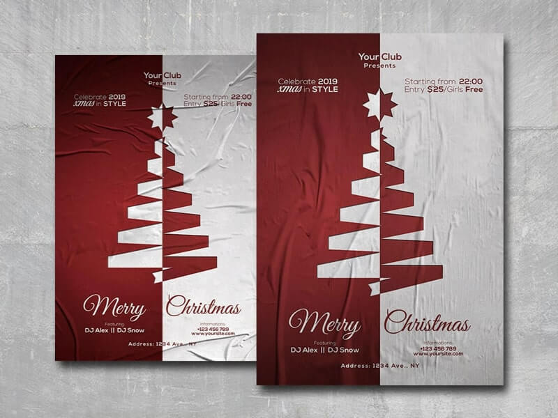 Merry Xmas vol2 Free PSD Flyer Template