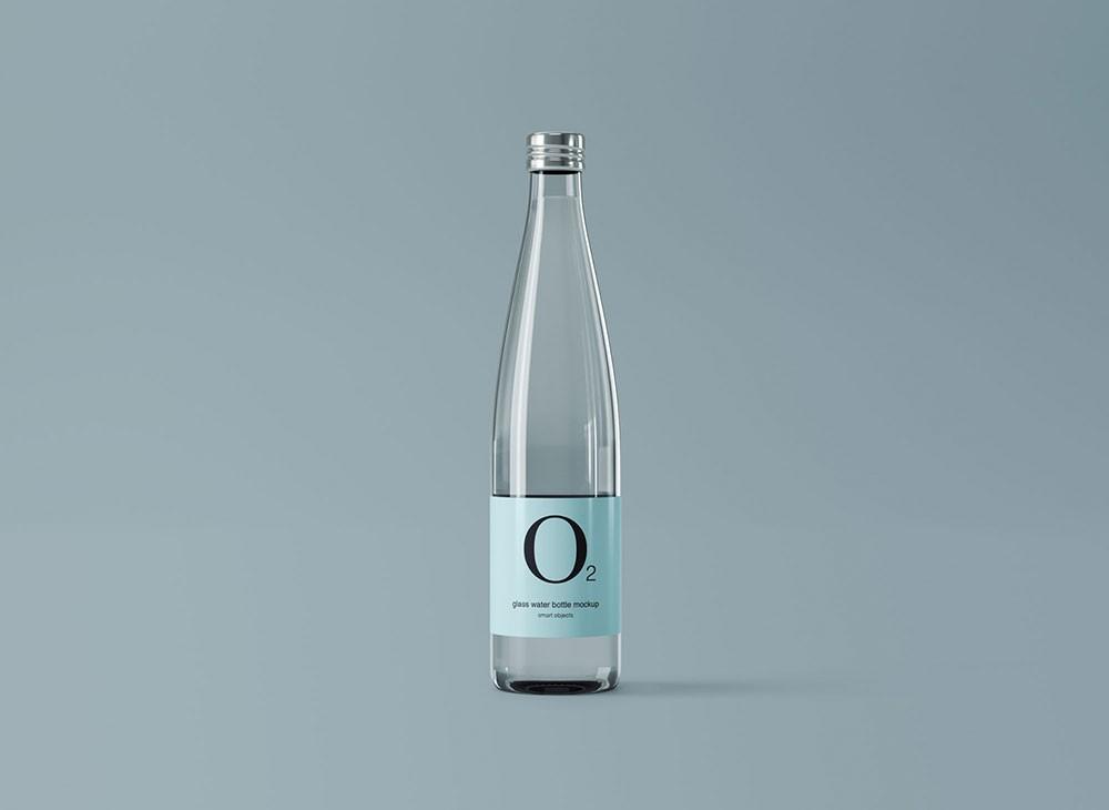 Minimal Glass Water Bottle Free Mockup