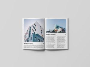 Minimal Open Magazine Free Mockup
