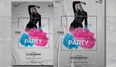 Minimal Party PSD Freebie Flyer Template