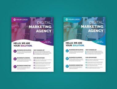 Modern Business Design PSD Free Flyer Template