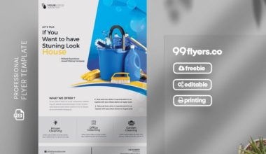 Modern Cleaning Service PSD Free Flyer