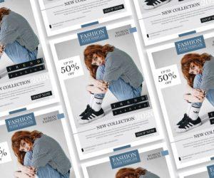 Modern Fashion Sale Free PSD Flyer Template