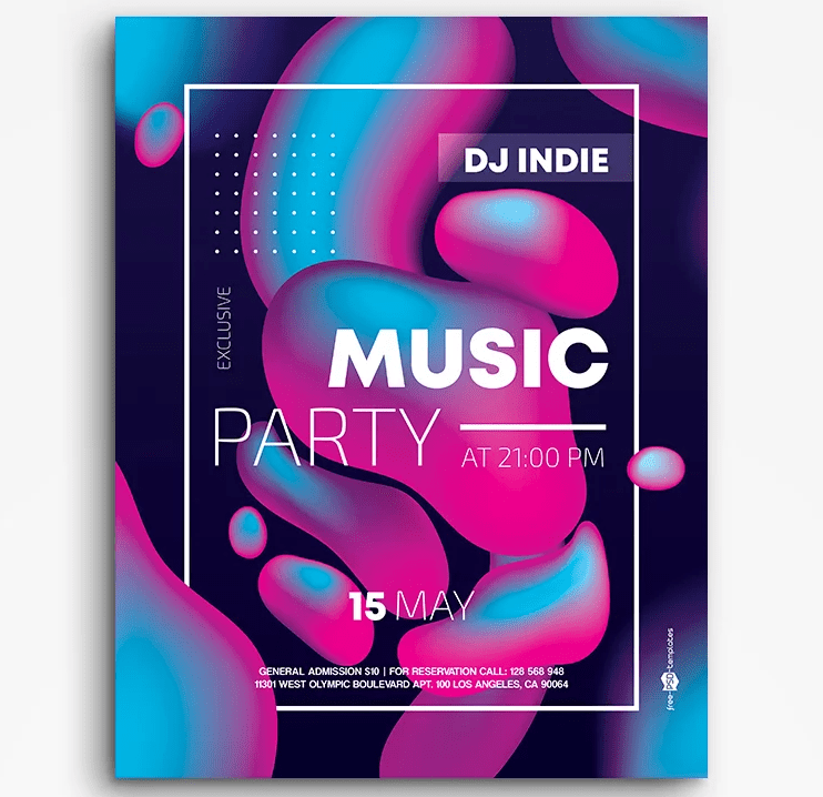 Music Abstract PSD Free Flyer Template