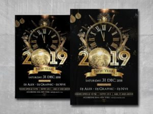NYE Eve Night Free PSD Flyer Template