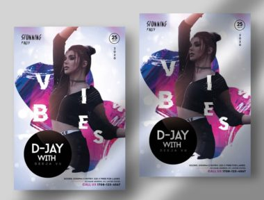 Nightclub Vibe Free PSD Flyer Template vol2