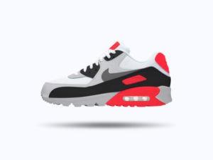 Nike Air Max 90 Sneaker Free Mockup