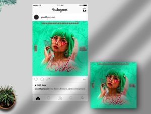 On Vibe – Free Instagram Post PSD Template