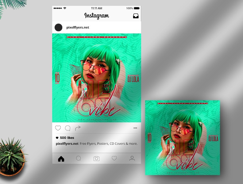 On Vibe - Free Instagram Post PSD Template