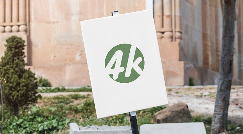 Outdoor Sign 4k Free Mockup