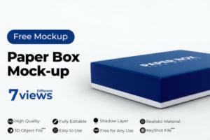 Paper Box Free Mockup