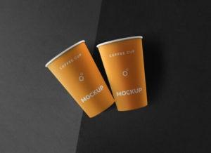 Paper Cups Free Mockup